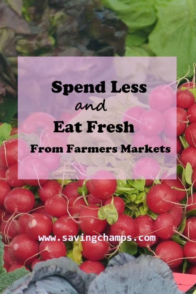 Saving money at farmers markets