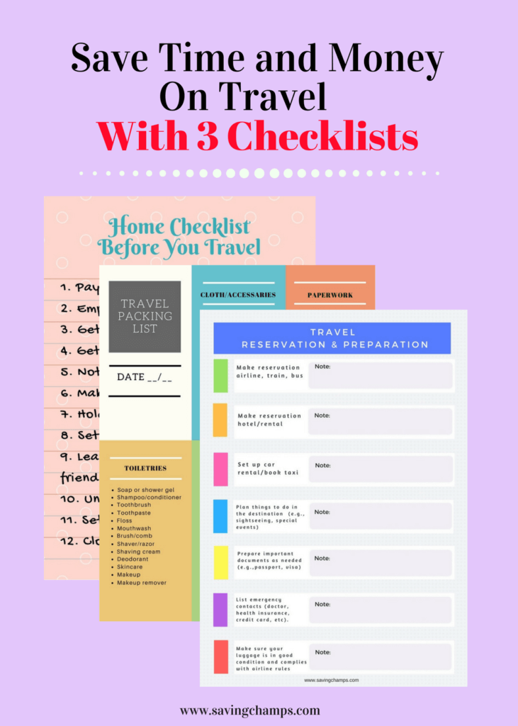 travel checklists